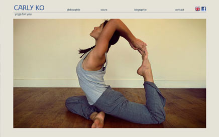 CARLY KO YOGA - website on line