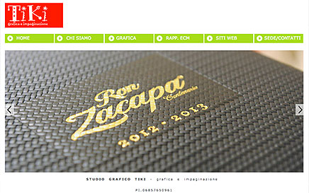 TIKI STUDIO GRAFICO- website on line