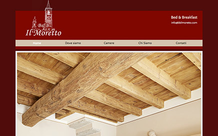 B & B - IL MORETTO - website on line